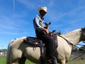 Booger on horseback